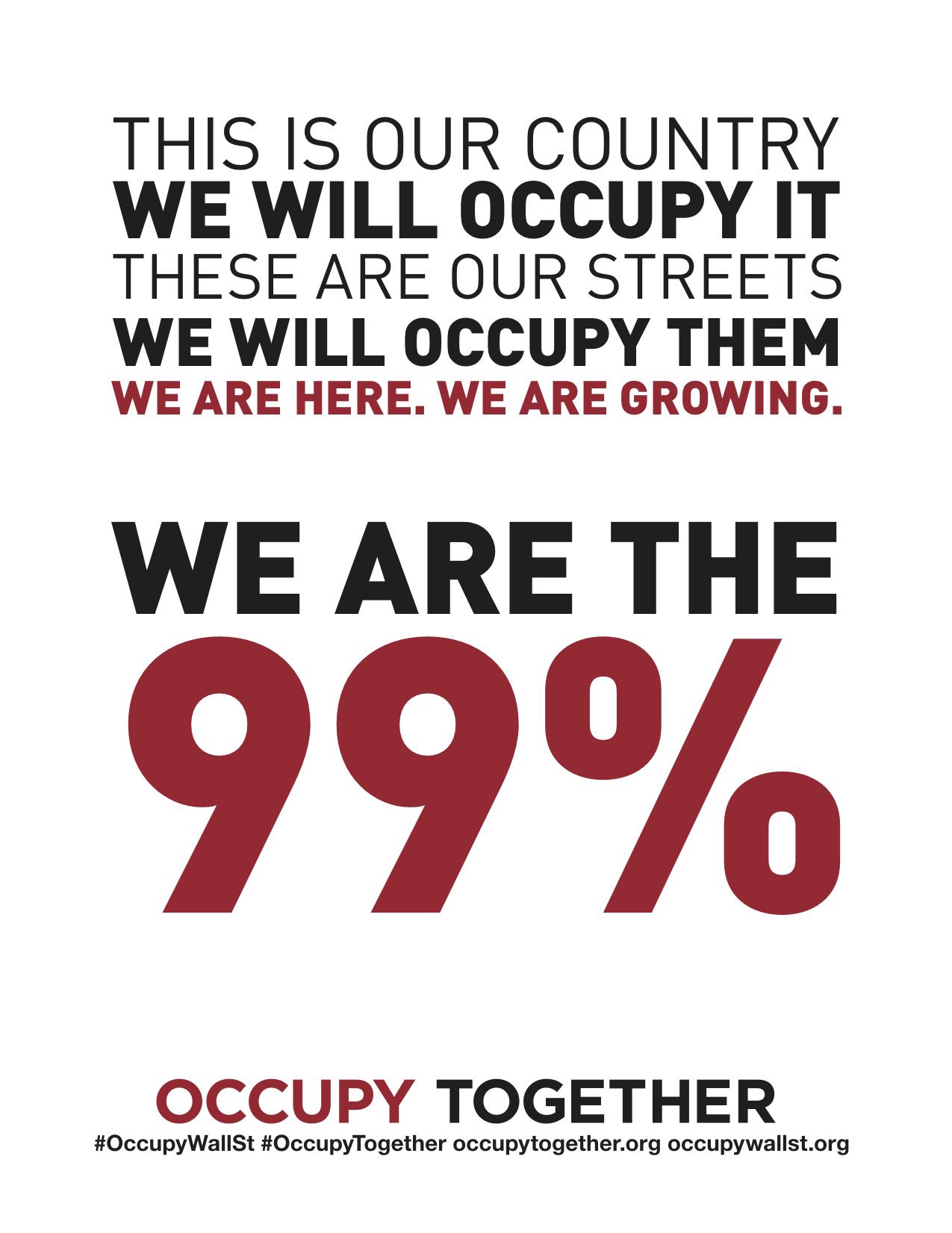 Bli med å skap en bedre verden - Bli med i Occupy bevegelsen
