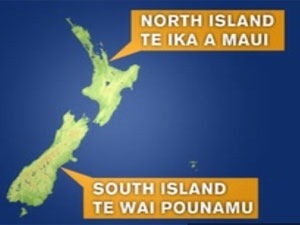 Official names for North and South Islands confirmed