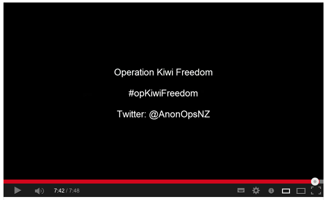 #Anonymous challenges NZ govt decision to spy on its citizens #opKiwiFreedom #GCSB #TICS