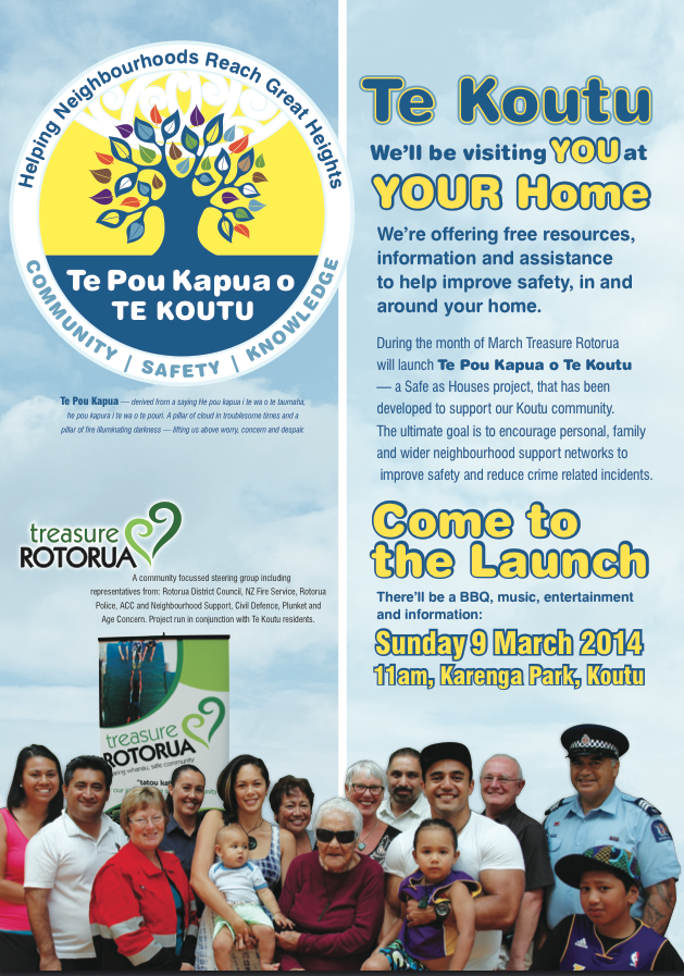Treasure Rotorua campaign aims for Koutu to be 'as safe as houses'