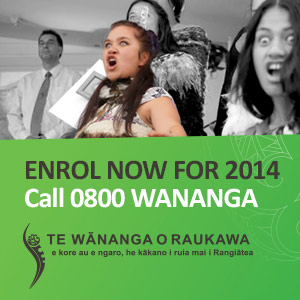 Enrol Now for 2014 at Raukawa