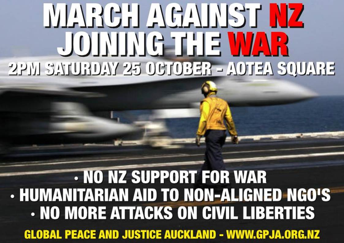 March for Peace, No to War – Sat 25 Oct, Aotea Square ...March For Peace